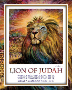 Lion of Judah with text Image